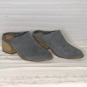 Tom's Slides Mules Suede Grey 10W